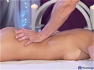 buxomy wonder babe Ana Bell Evans gets lubed up and shagged rear end style
