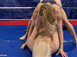 Brandy smile & Nikky Thorne wrestle each other
