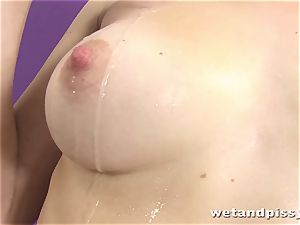 lovely raven haried honey pissing in solo sequence