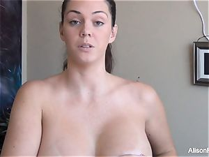 Behind the vignettes with Alison and her titty implants