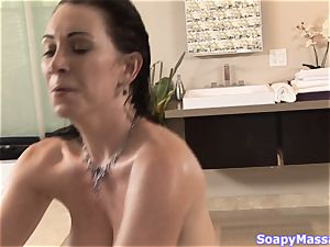 Soapy rubdown with Rayveness