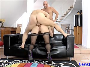 bum-fucked erotic european milf cummed on ass
