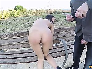 delicious Latina buttfuck smashed in public