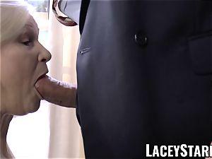 LACEYSTARR - horniest grandma analled before cum shot