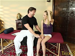 teen spunked by masseur