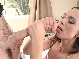 Aidra Fox spooned by a long rock hard meatpipe