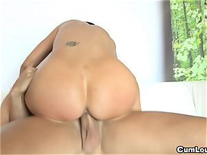 huge-titted Jasmine Jae railing a yam-sized prick with her hooters out