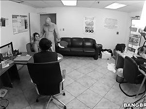 insane office fun with Nina Kayy