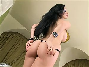 luxurious jugged Aletta Ocean uncovers her humungous breasts taunting everyone's attention