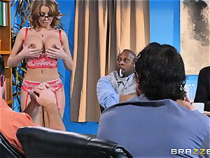 Britney Amber getting gang drilled
