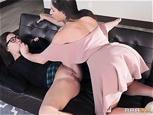 girl/girl slurping sorority with Abella Danger and Jojo kiss