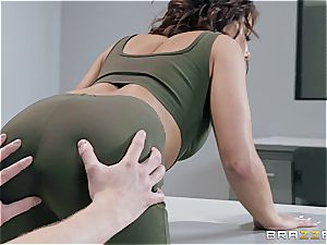 Adriana gets friendly with the customs officer