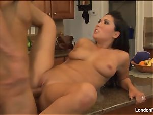 magnificent London Keyes gets boinked on the kitchen counter
