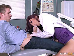 tasty dentist Monique Alexander deep throats patients thick lollipop