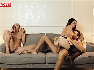 LETSDOEIT - ultra-kinky wifey Gets boned hardcore By Swingers
