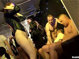 Bibi Fox with bombshell buddies crammed with super-hot jizm