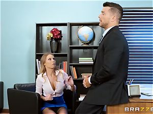 Britney Amber gets crazy in the office