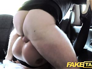 fake taxi super-hot estate agent gets creampied