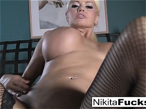 point of view plowing Nikita Von James with a phat weenie