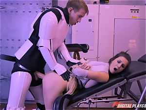 Stella Cox coochie bashed by a space agent