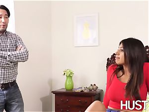 supah super-fucking-hot stepsis Ella Knox leaned over and plowed hard