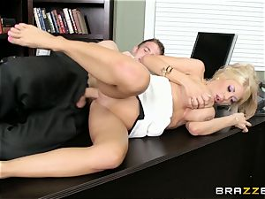 Stand in manager Kayla Kayden gets her employee following rules