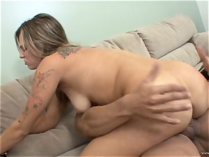Bailey Blue gets her face plastered with super-hot jism