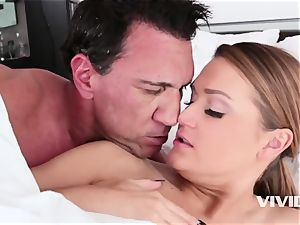 very magnificent redhead Abby Cross inhaling and drilling in bed
