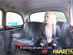fake taxi timid ash-blonde nubile with natural udders