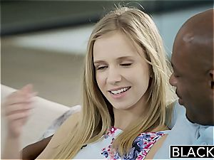 BLACKED petite blondie nubile Rachel James first fat dark-hued trouser snake