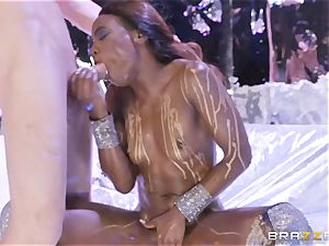 Ana Foxxx wet and penetrated rock hard