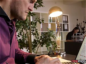 Office stunner fingerblasted And Pussylicked