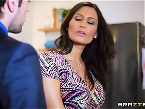 kinky wifey sensual Jane ravages her husbands counterpart