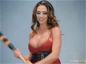 Ariella Ferrera riding on Xander