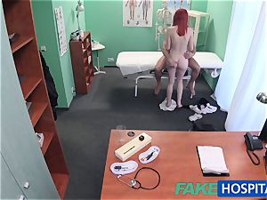 FakeHospital cute sandy-haired rides physician for cash